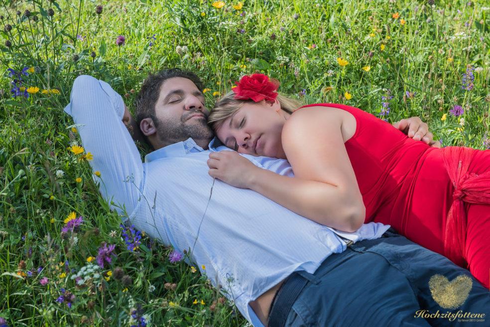 Relaxen beim Verlobungsshooting?